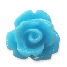 10mm Turquoise Blue Small Resin Rose Buds